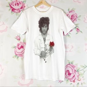 NEW Prince Graphic Flower Tee Shirt